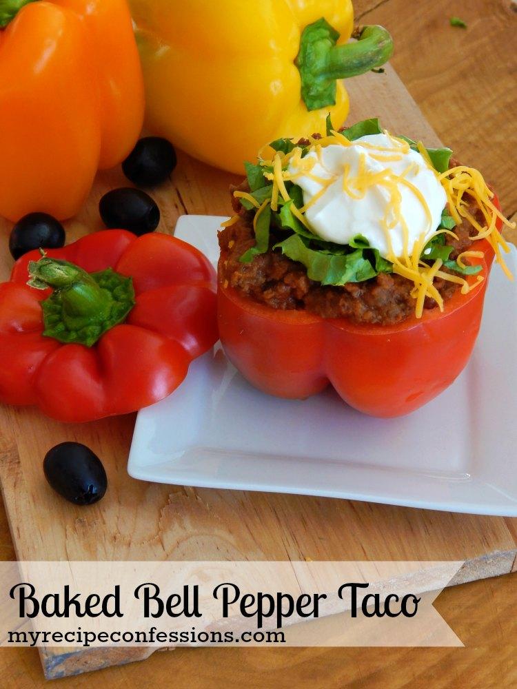 Baked Bell Pepper Taco