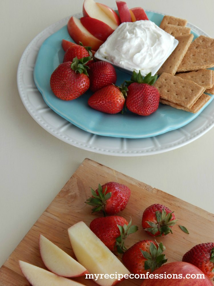 Cream of Coconut Fruit Dip. This recipe is super easy to make and it is so good, you will have to restrain yourself from licking the bowl clean. I love to take this dip to parties. You can serve it with fresh fruit and graham crackers alongside your other appetizers. It is also gluten free so everybody can enjoy it.