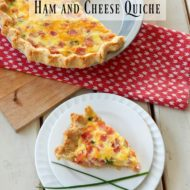 Ham and Cheese Quiche is not only amazing but super easy too. The flaky, buttery crust is out of this world and the filling is packed with flavor!