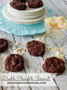 My Recipe Confessions Double Chocolate Coconut Cookies