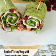 Smoked Turkey Wrap with Cranberry Bacon Spread