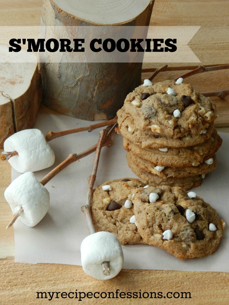 S'More Cookies-These cookies are the easiest and yummiest cookies you will ever try! They are soft, chewy, and stuffed with chocolate and marshmallows. Don't mess with the campfire s'mores, they just make a big mess. Every time I make these cookies I get asked for the recipe, because everybody loves them!