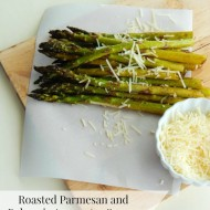 Roasted Parmesan and Balsamic Asparagus Spears