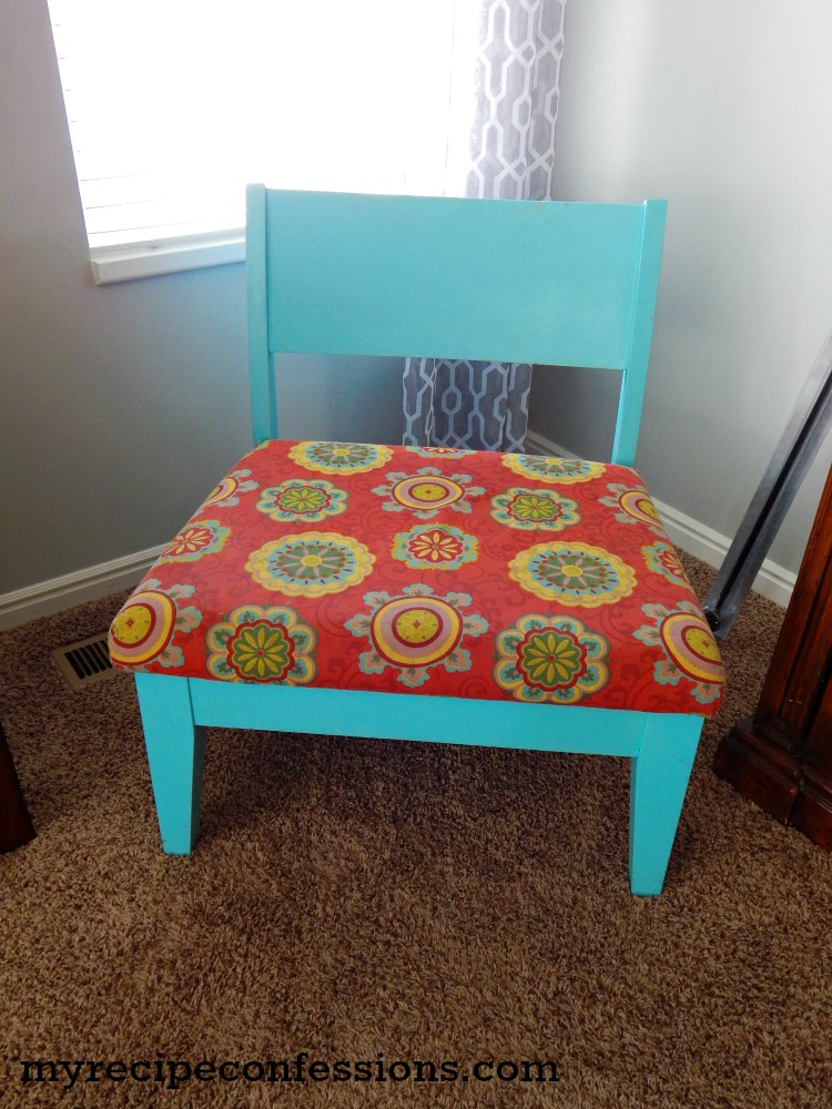 accent chair makeover - Light Blue Accent Chair