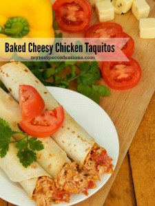 Baked Cheesy Chicken Taquito