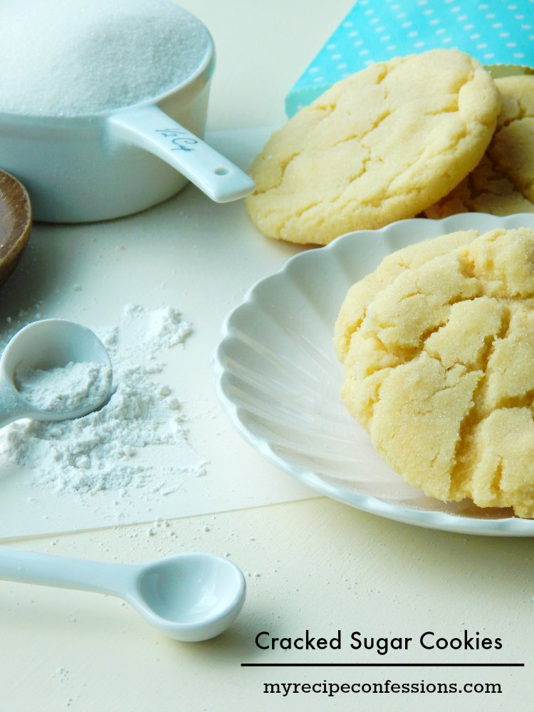 Cracked Sugar Cookies are by far the best sugar cookies! They are the perfect buttery, soft, and chewy cookies. This recipe is my favorite and is so much better than any store bought mix!