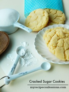 Cracked Sugar Cookies are so soft and chewy. I love cookie recipes and this one is one of the best! Don't use a mix or the tube cookies, because they won't compare to these Cracked Sugar Cookies!