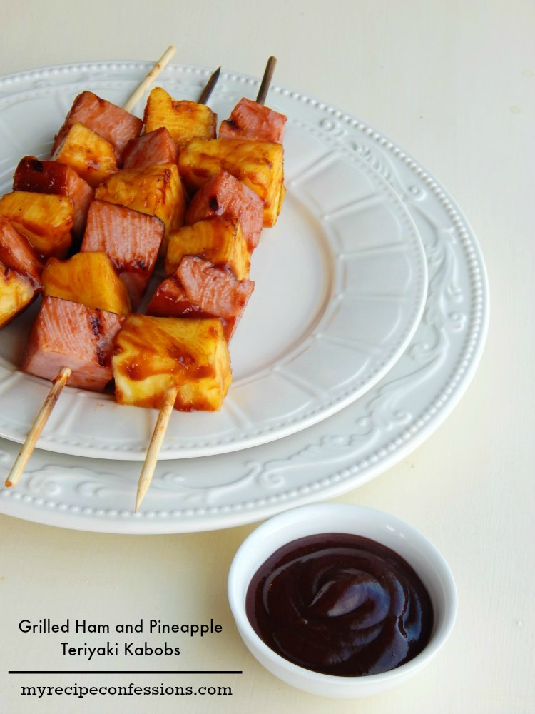 Grilled-Ham-and Pineapple-Teriyaki-Kabobs-
