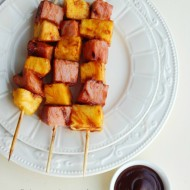 Grilled Ham and Pineapple Teriyaki Kabobs