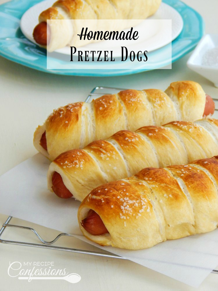 Homemade Pretzel Dogs are the best pretzel dogs ever! This recipe is super easy and everybody always loves them! These Homemade Pretzel Dogs are a hundred times better than any store-bought pretzel dog.