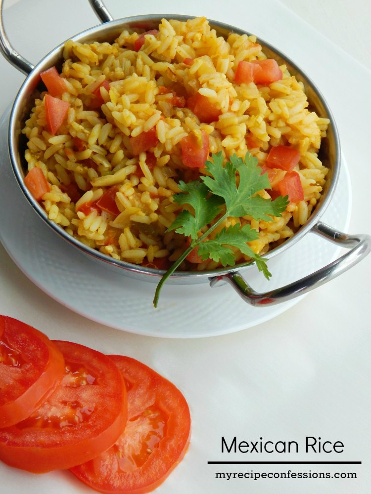 Mexican Rice. This rice tastes just like the yummy Mexican rice you get at a restaurant. It goes great with any Mexican food! It is gluten-free and super-duper easy to make! This rice is one of the best recipes I have ever tasted!
