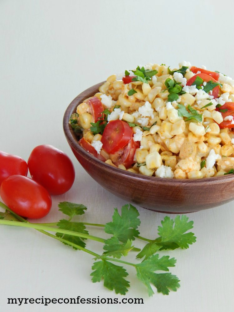 Mexican Street Corn. I love Mexican food and this is one of the best recipes you will find! It is a great vegetarian and gluten-free recipe that will please everybody. It is an amazing side dish to serve along your favorite Mexican entrée!