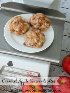 My Recipe Confessions Caramel Apple Snickerdoodles