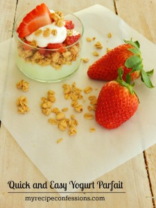Quick and Easy Yogurt Parfait