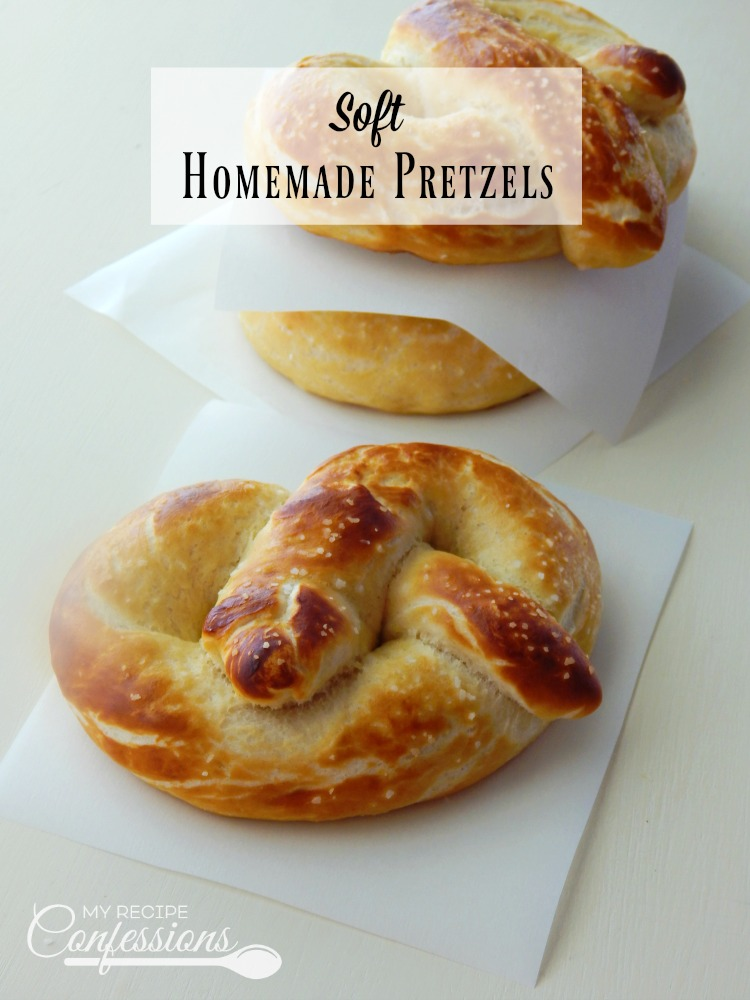 Soft Homemade Pretzels are the best pretzels you will ever taste! This recipe is so easy, my kids can make them all on their own. These pretzels make a great after school snack, or cut them into pretzel bites for the perfect appetizers!