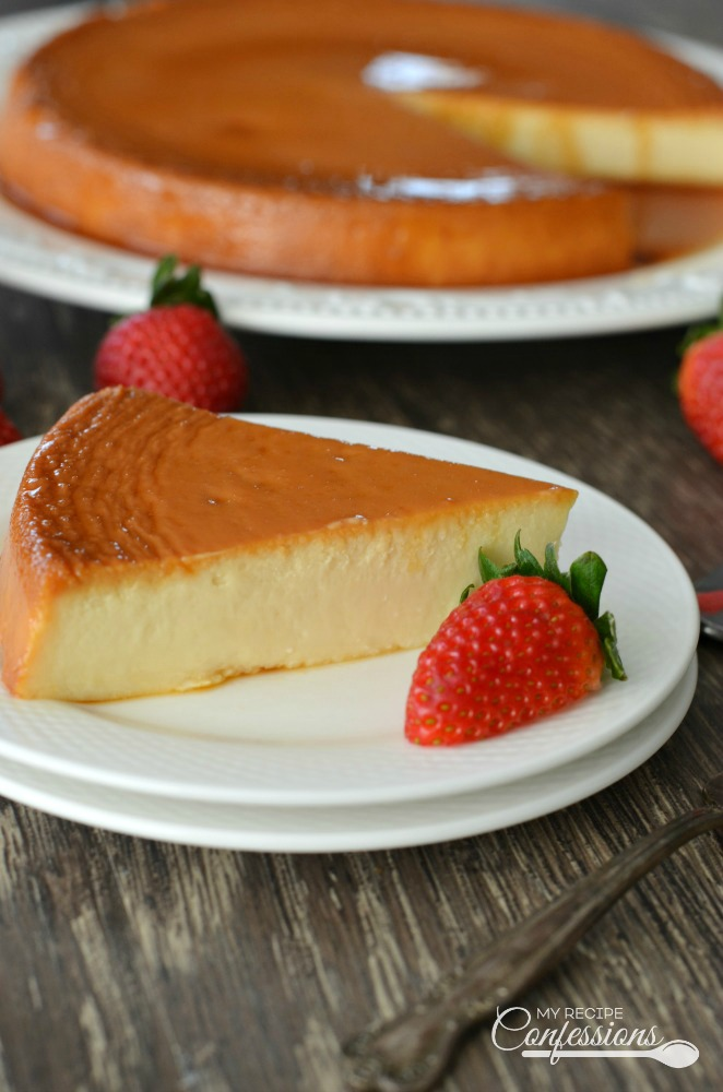 Creamy Spanish Flan is the BEST RECIPE EVER!!! The cream cheese in this recipe makes the flan so smooth and creamy.  Don't worry, it's very easy to make too. This Creamy Spanish Flan is the perfect dessert for any occasion.