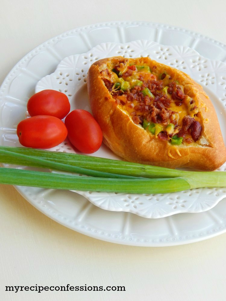 Baked-Omelet-Boats are so amazing! I love how quick and easy this recipe is! You use store baguettes, which makes this dish even easier.