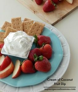 Cream of Coconut Fruit Dip