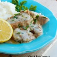 Crock Pot Creamy Lemon Herb Pork Chops