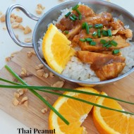 Thai Peanut Orange Chicken
