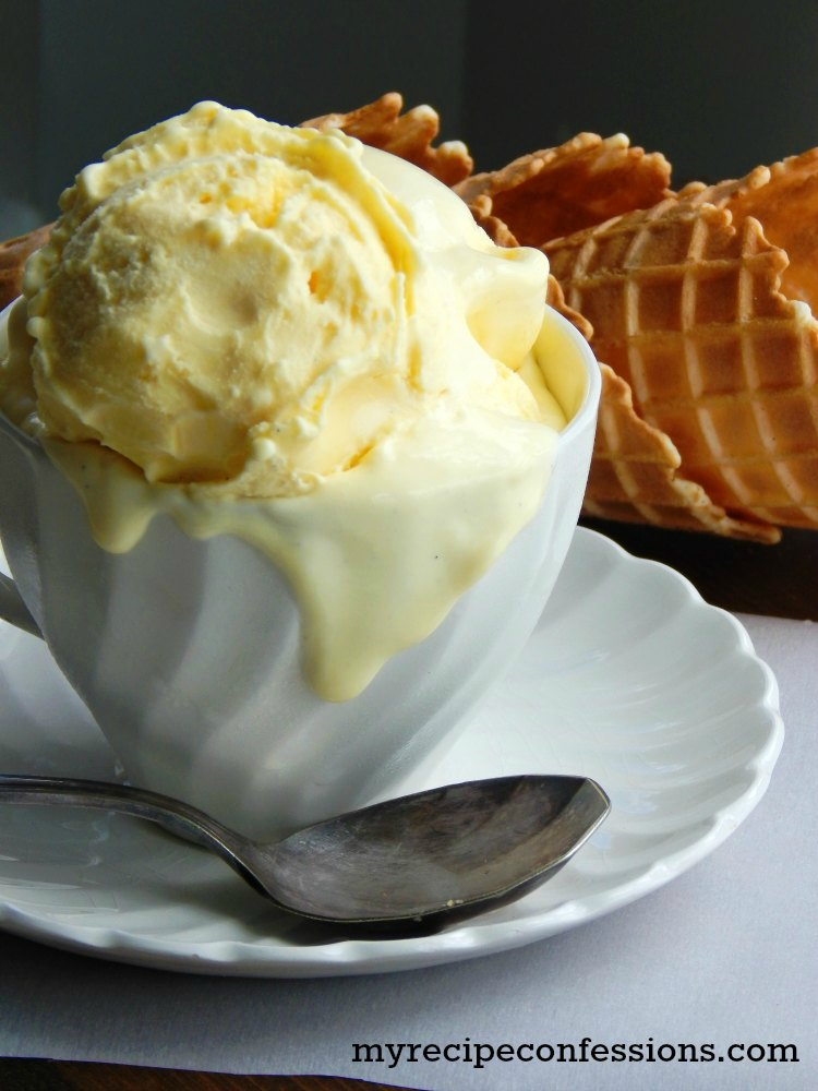 Homemade French Vanilla Ice Cream-This recipe is as fast and easy as they come. With an ice cream maker, you can eat your ice cream within 20 minutes. I love how smooth and creamy this ice cream is. It has the perfect rich French vanilla flavor. Another great thing about this recipe is that it doesn't have any eggs. This ice cream will rock your world!