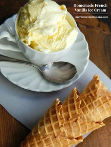 Homemade French Vanilla Ice Cream-This recipe is as fast and easy as they come. With an ice cream maker, you can eat your ice cream within 20 minutes. This ice cream is so smooth and creamy with a rich French vanilla flavor. You won't find a better dessert than this! There aren't any eggs in this recipe, so you don't have to worry about that. I know after you taste it, this ice cream recipe will become your new go-to recipe.