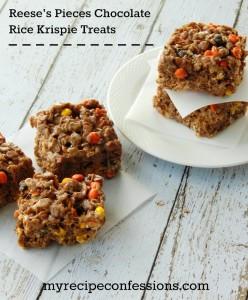 Reese's-Pieces-Rice-Krispie-Treats