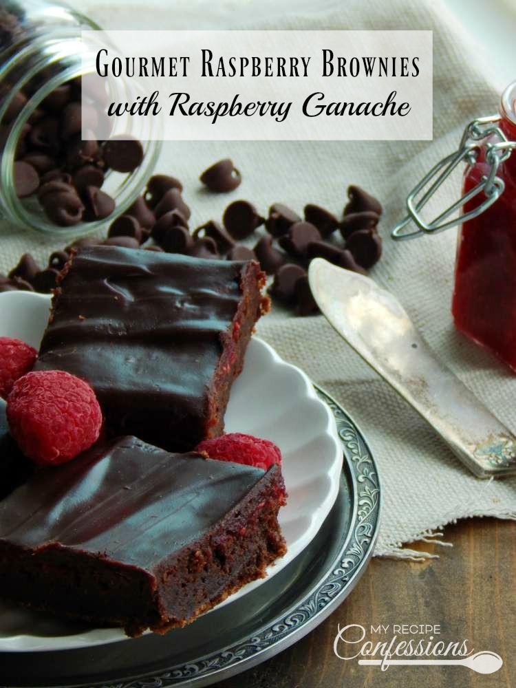 Gourmet Raspberry Brownies with Raspberry Ganache are the best brownies you will ever eat! They are so soft, fudgy, and easy to make! These brownies beat a box mix any day! The raspberry ganache has the perfect silky smooth texture and raspberry flavoring. These brownies are any chocolate lovers dream come true!