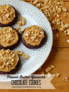 Peanut Butter Ganache Chocolate Cookies