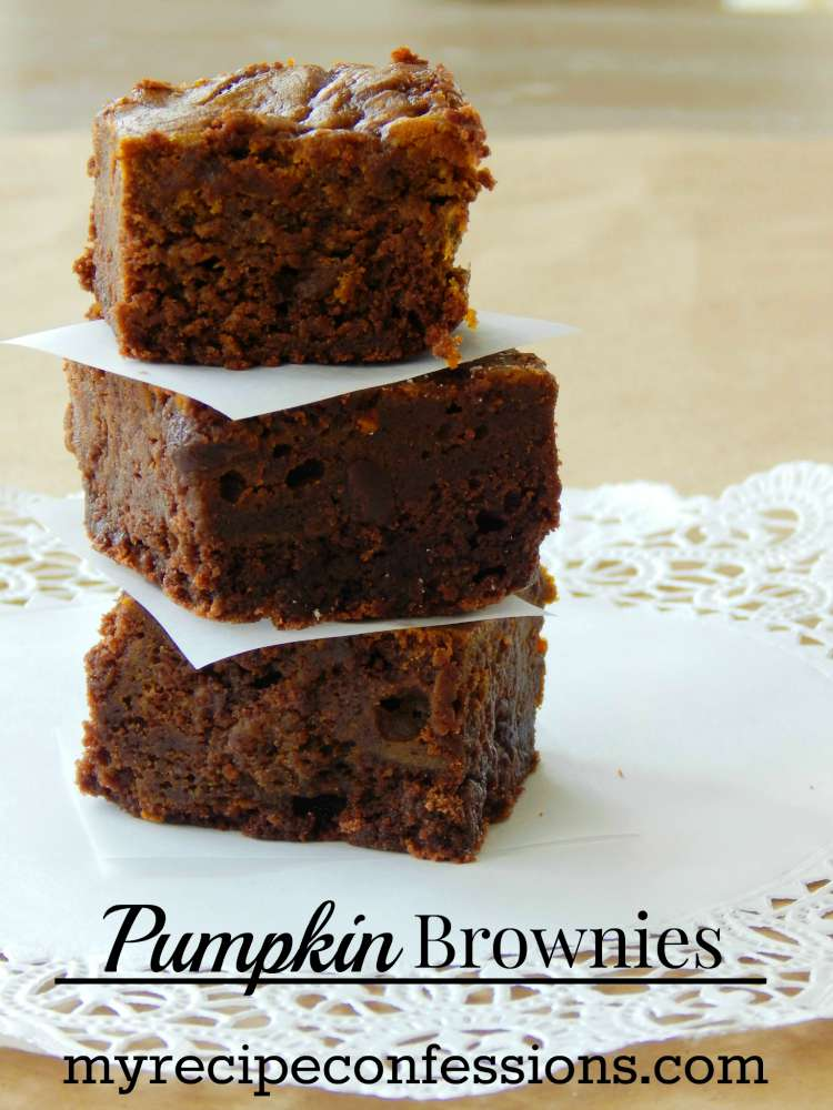 Pumpkin Brownies are the perfect combination of chocolate and pumpkin. They are moist and so easy to make. This homemade brownie recipe is a keeper for sure!