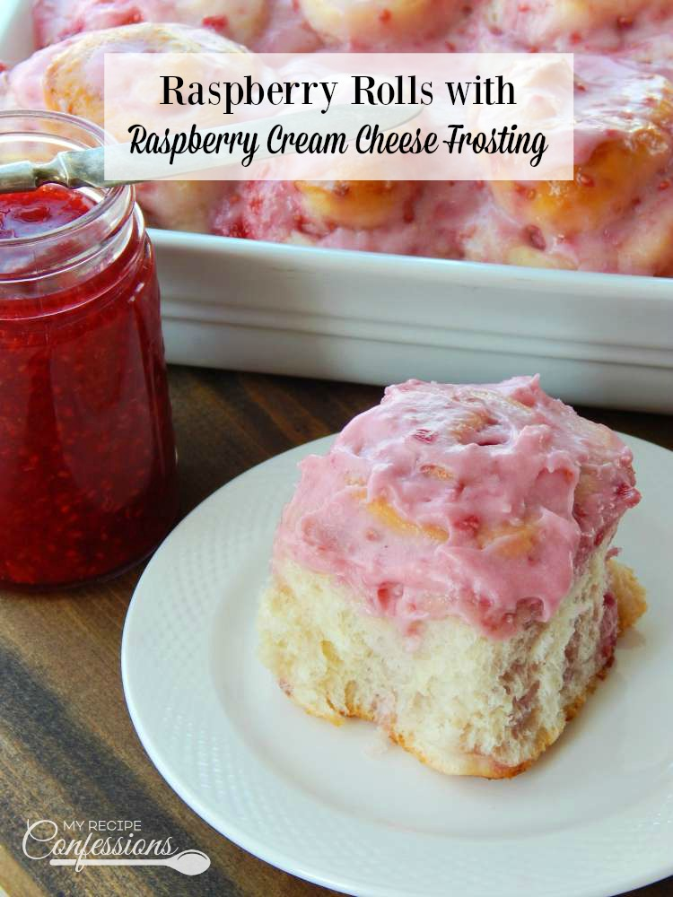 Raspberry Rolls with Raspberry Cream Cheese Frosting are a family favorite. We never have any leftovers because they are gone as soon as I pull them out of the oven. These rolls are easy and so worth every second it takes to make them!