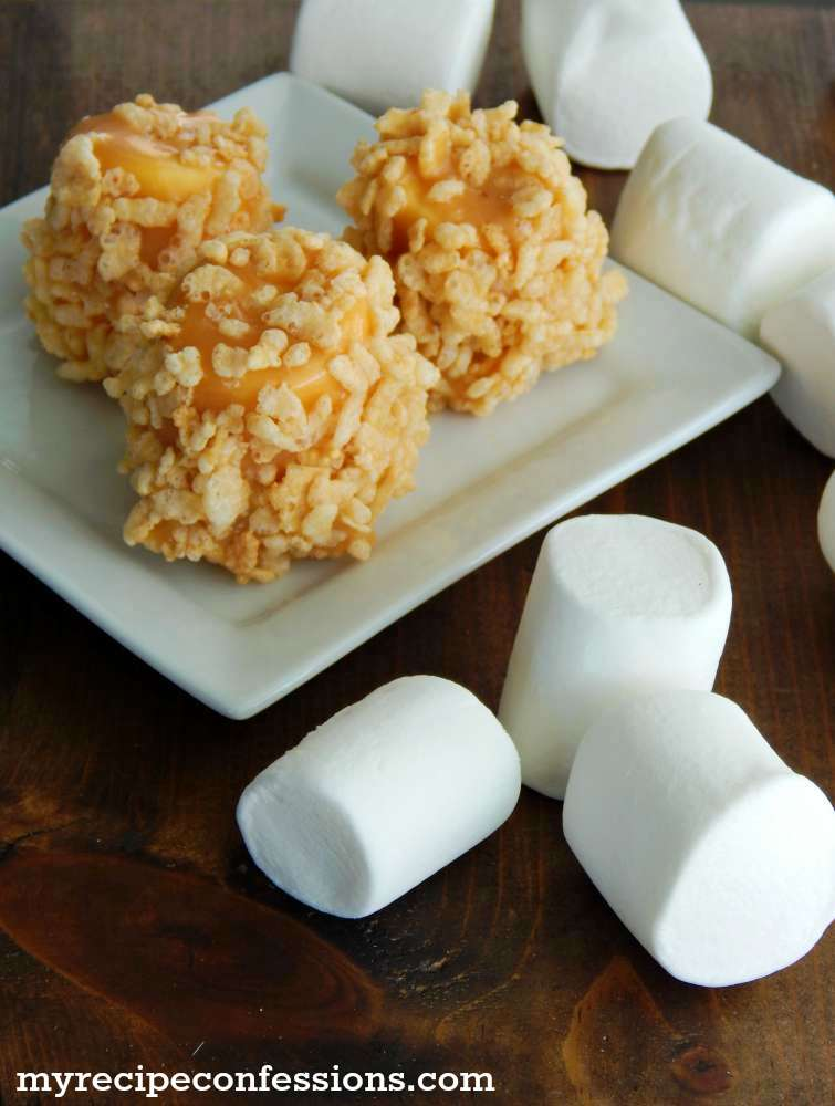 Rice Krispie Caramel Marshmallows-These tasty treats are the best! This quick and easy to follow recipe is a great activity for the kids to help with. The hardest part is trying to eat just one!