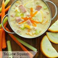 Yellow Squash and Ham Soup