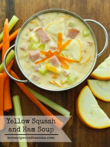 Looking for dinner recipes? You don't need to look any further. Not only is this Yellow Squash and Ham Soup Heavenly, it's super easy to make too. My family loves this recipe!