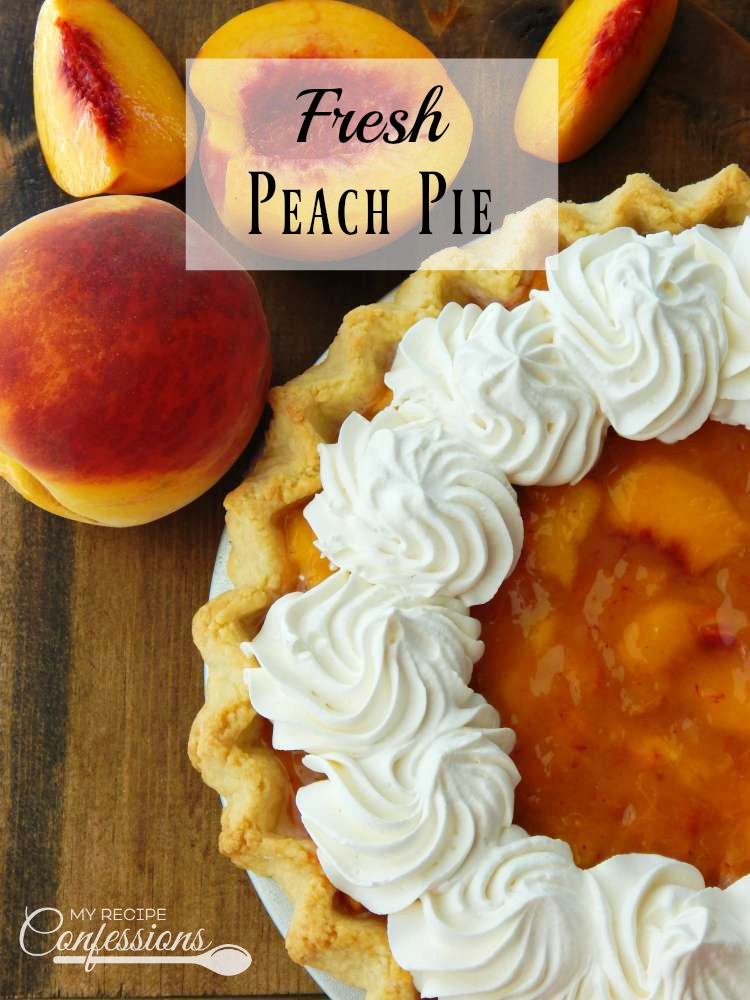 Fresh Peach Pie is one of the best ways to enjoy the peach season! This is the best recipe you will ever find. The homemade filling and flaky crust are so easy to make. This pie tastes like you are biting into a big juicy peach. I promise it will rock your world!