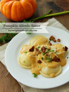 This Pumpkin Alfredo Sauce that will put all your other pumpkin recipes to shame. I bet you never thought you would add a pumpkin dish to your dinner recipes. The sauce is so creamy with a subtle sweetness of pumpkin. It is warm, comforting and perfect for a chilly fall night!
