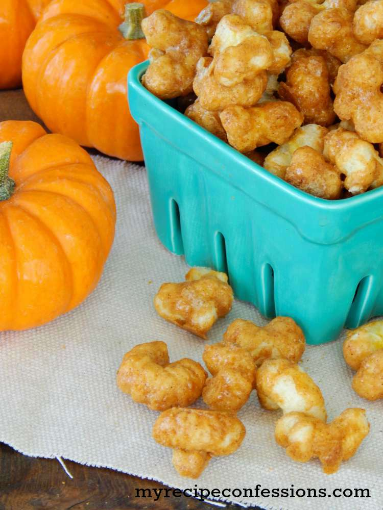 Pumpkin Spice Caramel Corn Pops-Sweet, crunchy, and perfectly spiced, these Pumpkin Spice Caramel Corn Pops are highly addicting! This easy recipe makes it even easier to enjoy these treats anytime you want.