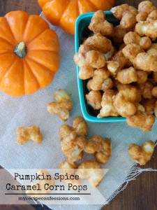 Pumpkin Spice Caramel Corn Pops are everything you could want in fall treat and more. I always love to make pumpkin recipes in the autumn, but this one goes way above and beyond my other recipes. The caramel is not sticky so the kids won't make a big mess. It is easy to make so dang addicting!