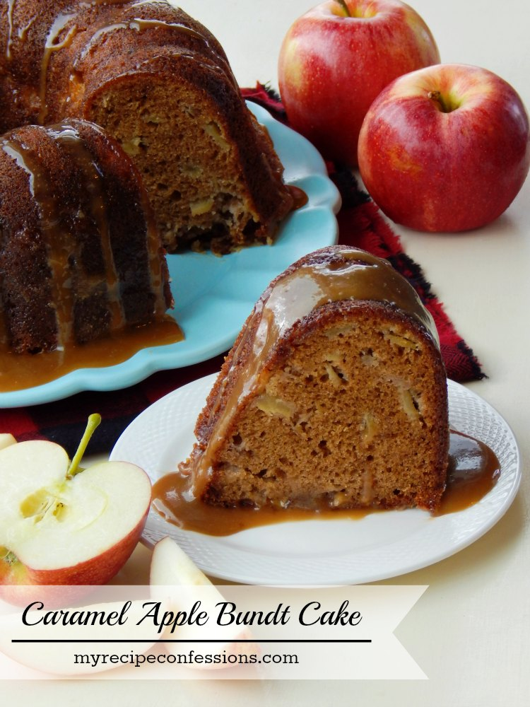 Caramel Apple Bundy Cake is incredible! I love how easy it is to make and how happy my family is when I pull it out of the oven. It is so dang moist and the caramel sauce is out of this world! Celebrate the Fall season with this cake!