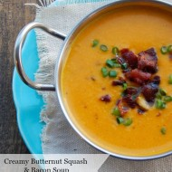 Creamy Butternut Squash and Bacon Soup