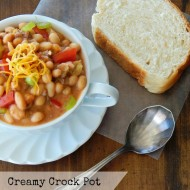 Creamy Crock Pot White Bean Chili is one of my favorite crockpot recipes! I love trying new recipes and this was did not disappoint! It was quick and easy and my family absolutely loved it. If you want an easy dinner idea, this is it!