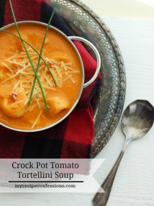 Crock Pot Tomato Tortellini Soup is one of the best crockpot recipes! The flavor is out of this world and it is so easy to make. Who doesn't love and easy dinner? This soup is one of the best recipes for soup you will find!