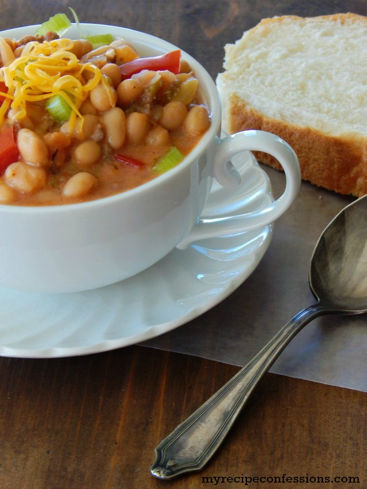 Creamy Crock Pot White Bean Chili is one of my favorite crockpot recipes! I love trying new recipes and this one did not disappoint! It was quick and easy and my family absolutely loved it. If you want an easy dinner idea, this is it!