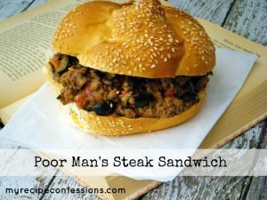 Poor Man's Steak Sandwich