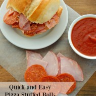 Quick and Easy Pizza Stuffed Rolls