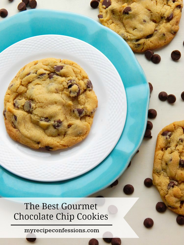 The Best Gourmet Chocolate Chip Cookies are soft and chewy with the perfect amount of rich chocolate chips. I have tried many recipes and this one is not only the best, it is also the easiest!