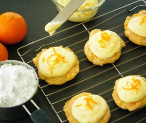 Carrot Orange Cookies with Orange Cream Cheese Frosting