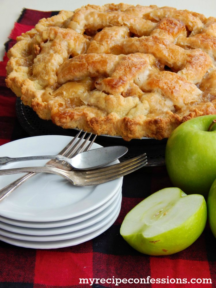 Homemade Apple Pie is hands down the BEST apple pie recipe EVER! The crust is buttery and flaky with a hint of sweetness from the glaze. The filling is a vibrant mixture of apples and spice. The recipes easy to follow instructions make this pie a fool-proof pie that everybody will love!