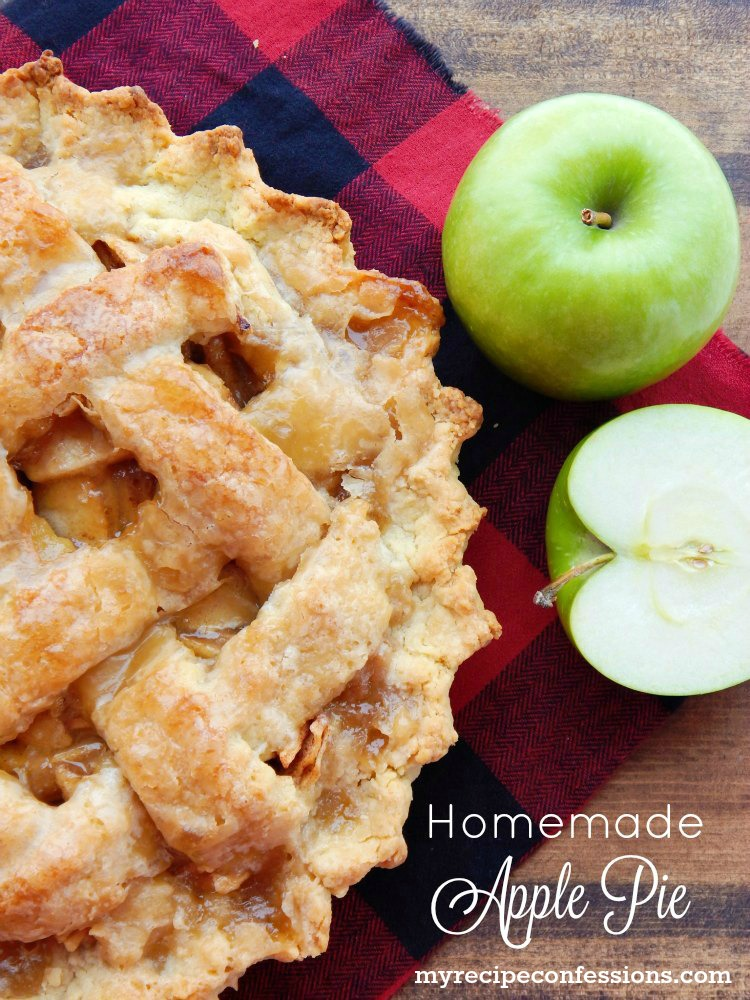 Homemade Apple Pie is hands down the BEST apple pie recipe EVER! The crust is buttery and flaky with a hint of sweetness from the glaze. The filling is a vibrant mixture of apples and spice. The recipes easy to follow instructions make this a fool-proof pie that everybody will love!