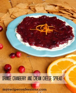 Orange Cranberry and Cream Cheese Spread